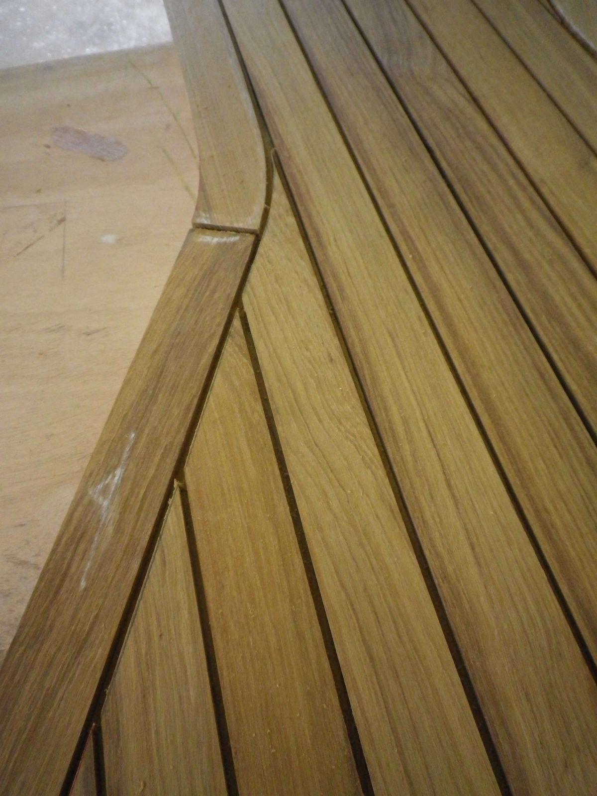 Teak decking panel detail