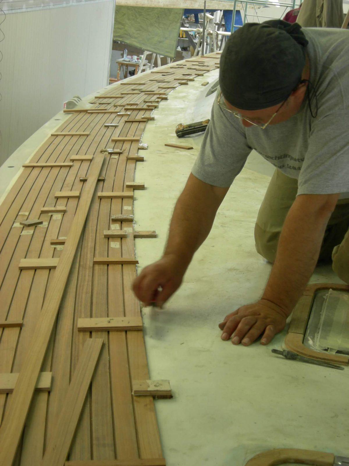 Handmade Teak decking