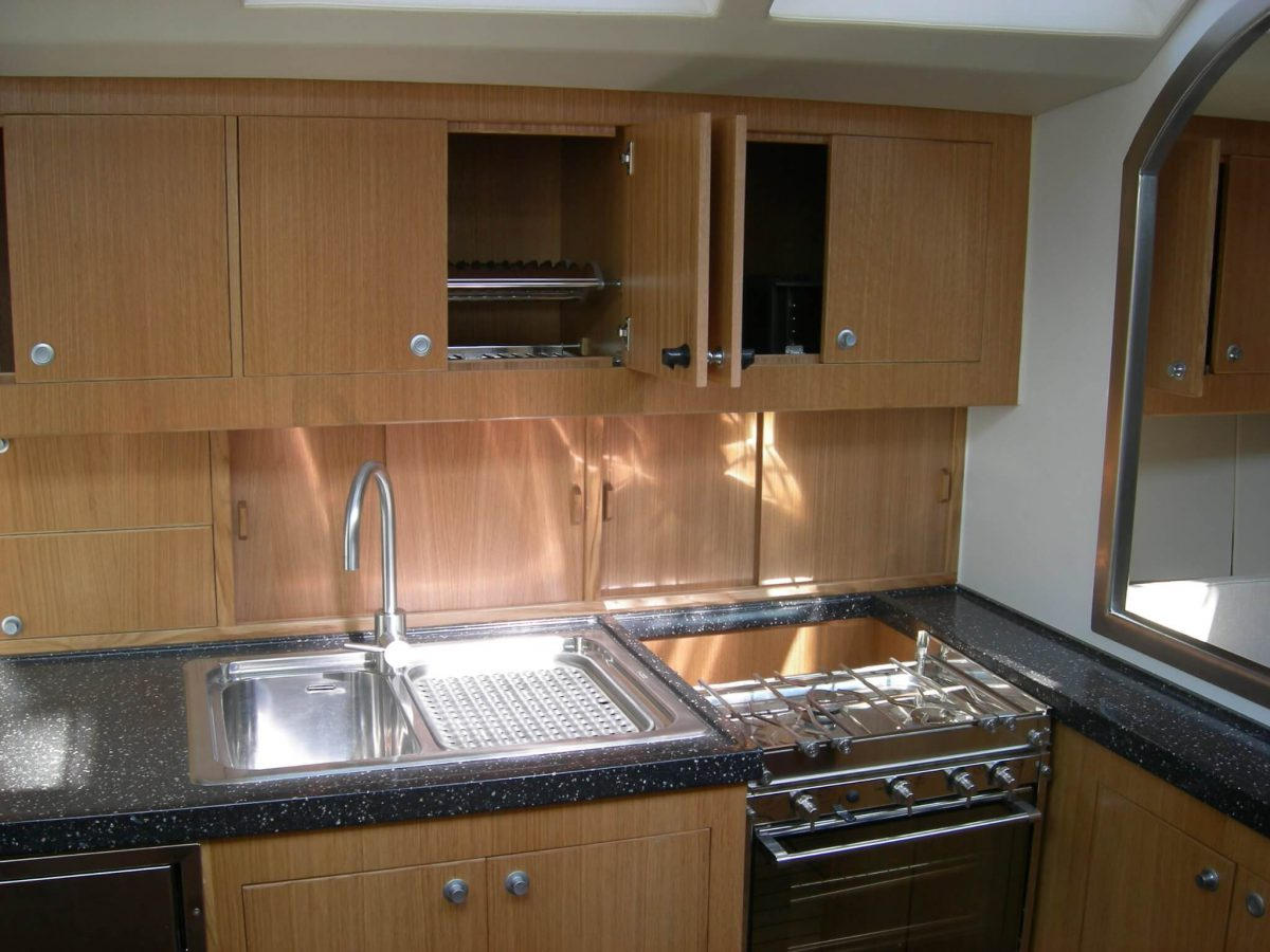 Oak and Corian galley