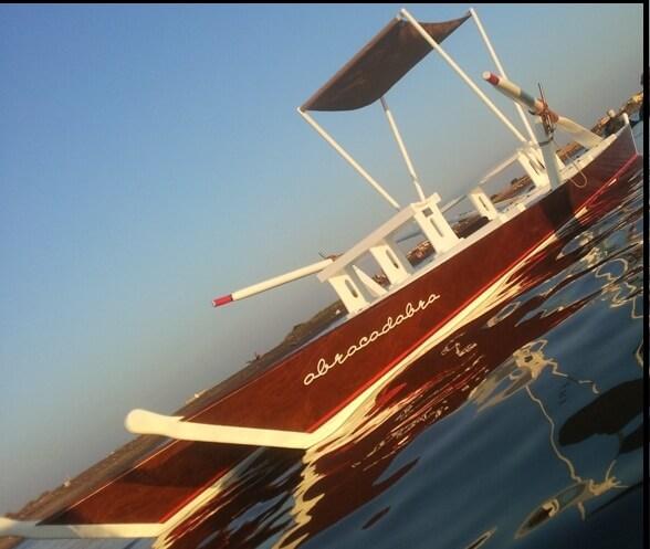 Varnish Mahogany hull row Boat